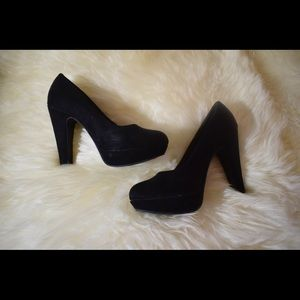 Call it Spring Black Suede Heels